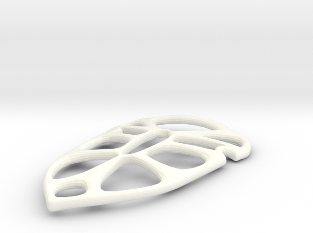 Shield Pendant in White Strong & Flexible Polished