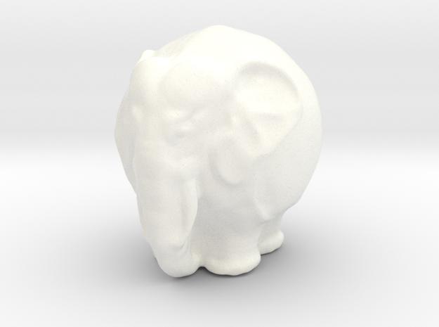 Kugelelephant in White Strong & Flexible Polished