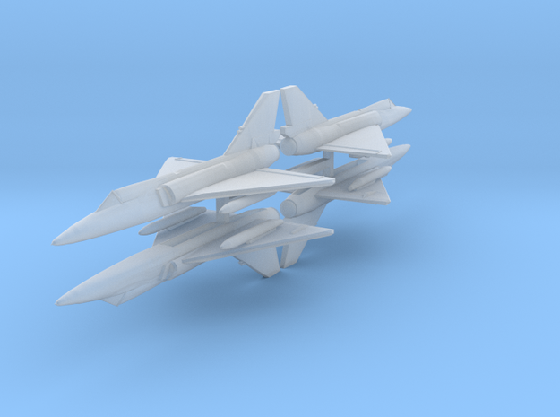 F-106 1:600 x4 in Smooth Fine Detail Plastic