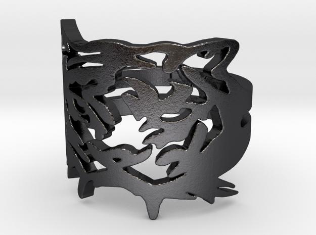 NODE - Tiger Ring -   3d printed
