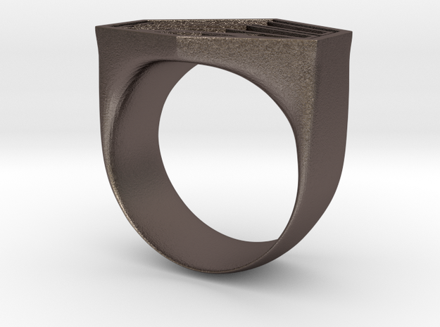 Corporal Ring in Polished Bronzed Silver Steel