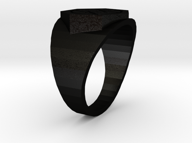 Deathless Ring 18mm in Matte Black Steel