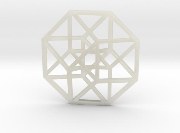 4D Hypercube (Tesseract) small 3d printed