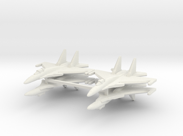 Su-37 1:700 x4 3d printed