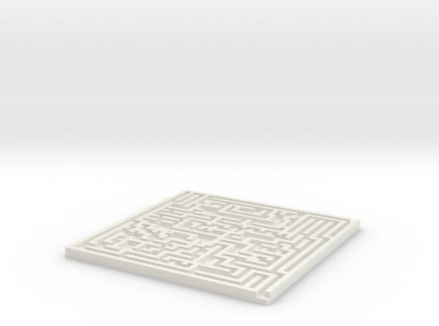 Square Maze Coaster 3d printed