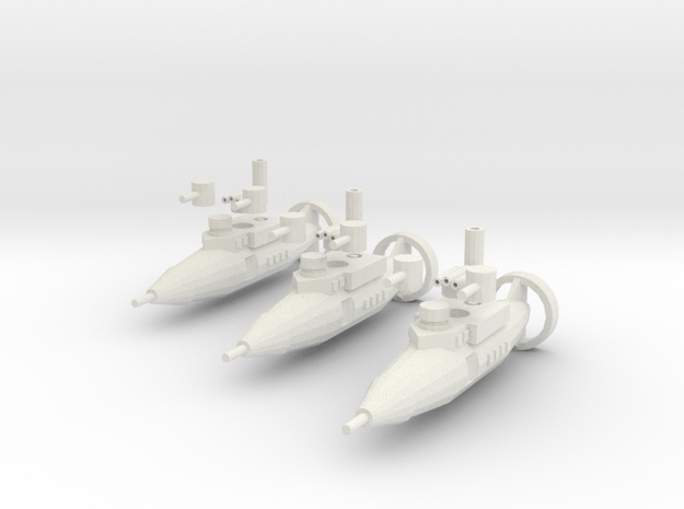 Tumelo Class Torpedo Frigate in White Natural Versatile Plastic