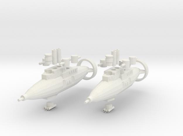 Hillar Class Destroyer in White Natural Versatile Plastic