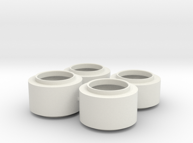 F1 Wheels V1 in White Natural Versatile Plastic