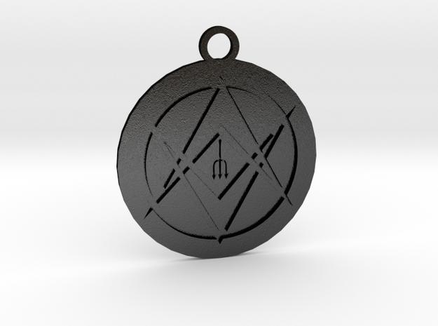 Medaglione in Matte Black Steel