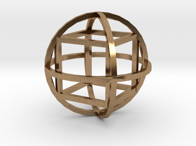 Cube inside sphera