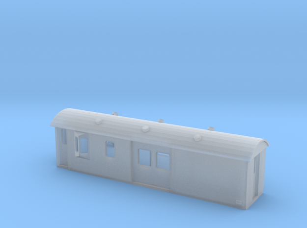 30ft Guards Van, New Zealand, (N Scale, 1:160) in Frosted Ultra Detail