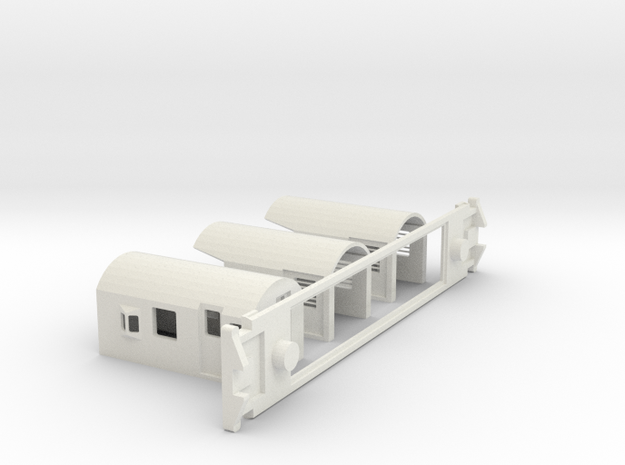 FM Guards Van, New Zealand, (HO Scale, 1:87) 3d printed
