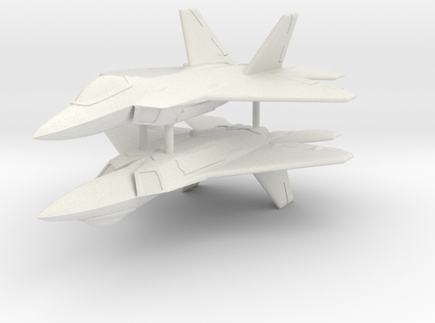 1/350 F-22A Raptor (x2) in White Strong & Flexible