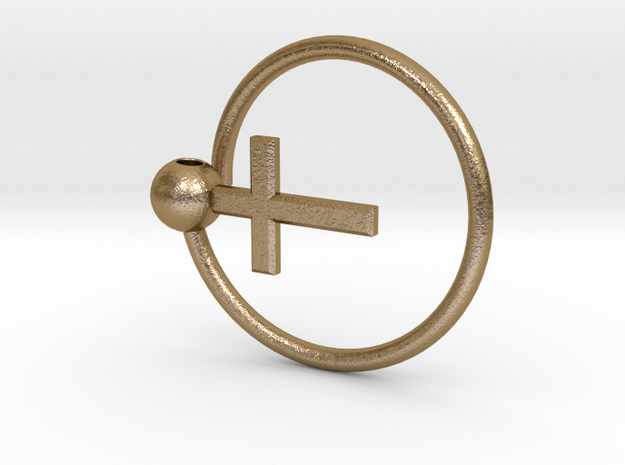 Keyring with Cross 3d printed