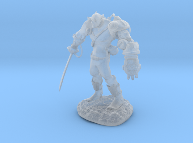 Mech Warrior1 20mm high in Smooth Fine Detail Plastic