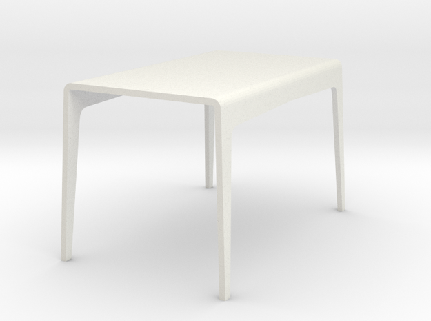 1:24 Bent table in White Natural Versatile Plastic