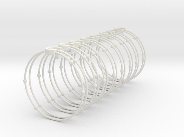 Carbon Napkin Ring in White Natural Versatile Plastic