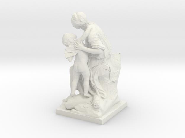 L'Amour Et L'Amitie  in White Natural Versatile Plastic