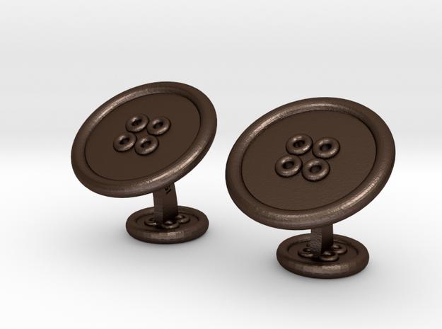 ButtonCufflinks 3d printed