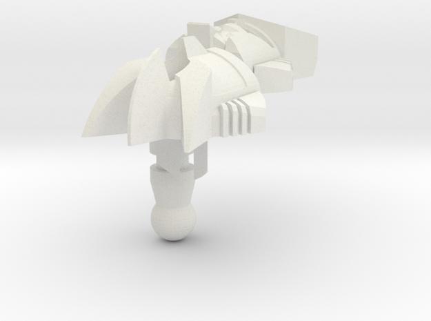 banzaitron head deluxe in White Natural Versatile Plastic
