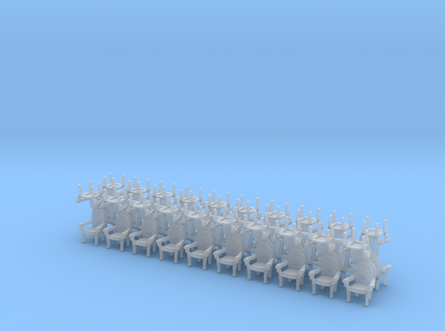 Parlor chairs X40 HO Scale (higher detail) 3d printed