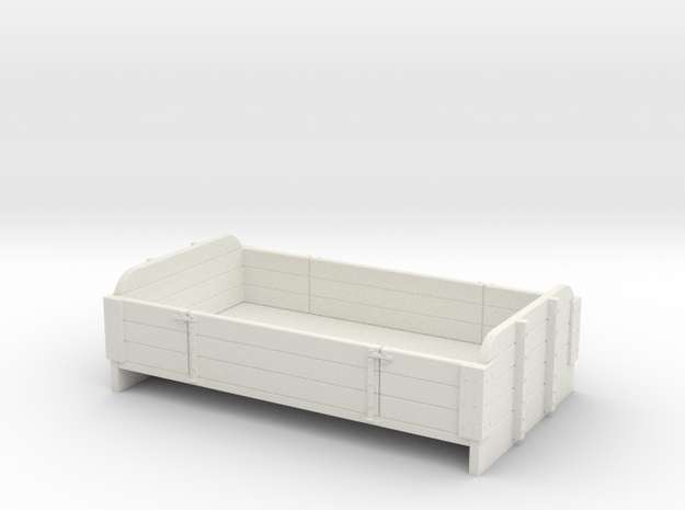 Sn2 3 plank center drop side  in White Natural Versatile Plastic