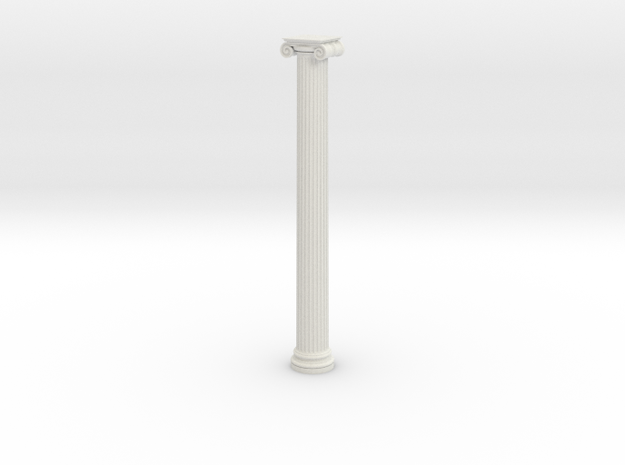 Ionic Column 1 in White Natural Versatile Plastic