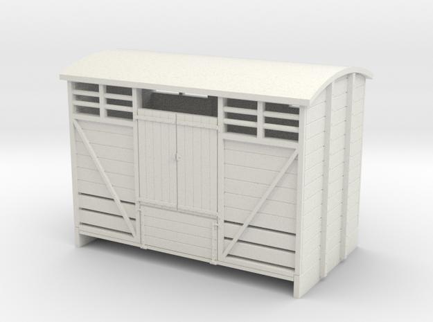 Sn2 Cattle Van in White Natural Versatile Plastic
