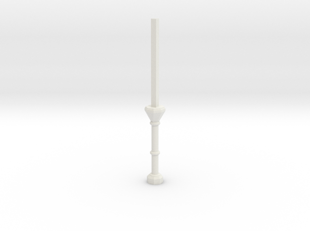 C1 Column Stub in White Natural Versatile Plastic