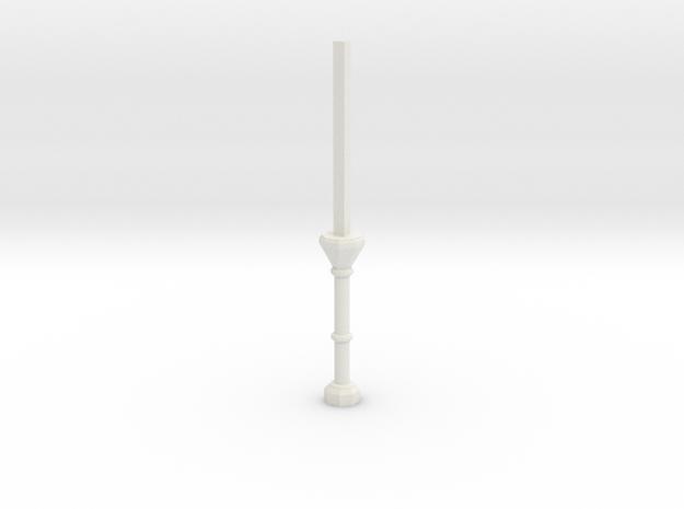 C1 Column Stub in White Natural Versatile Plastic