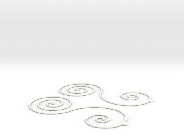 Sun Farm Spirals | earrings in White Processed Versatile Plastic