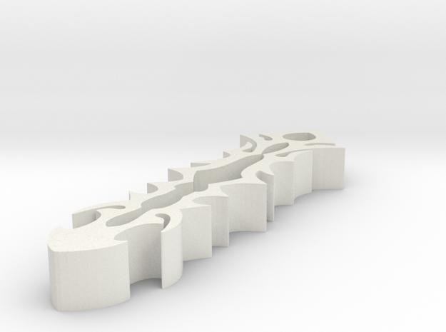 Tribal Vertical Pendent in White Natural Versatile Plastic