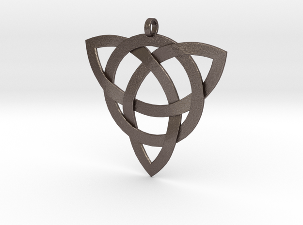 Large Celtic Knot Pendant (Inverted Triquetra) 3d printed Stainless steel
