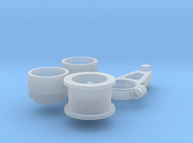 1/12 Scale Generic Blower Pulleys in Frosted Ultra Detail
