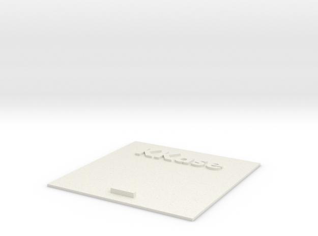 Kkase Sliding Lid in White Natural Versatile Plastic