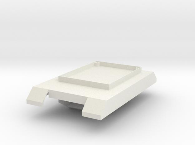 Boe-bot Tank Frame in White Strong & Flexible