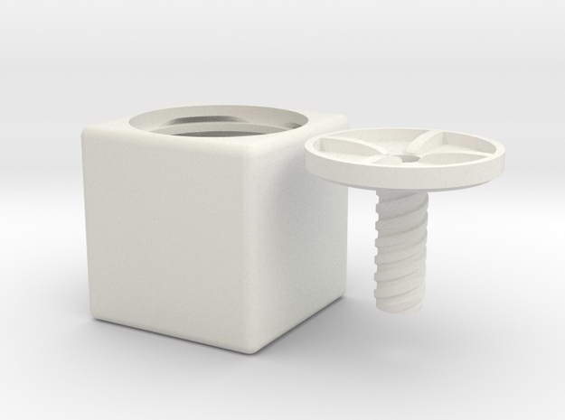 ring holder The Cube in White Strong & Flexible
