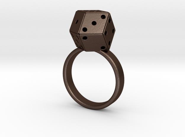 Rhombic Die Ring 3d printed