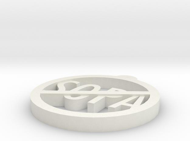 SOPA in White Natural Versatile Plastic