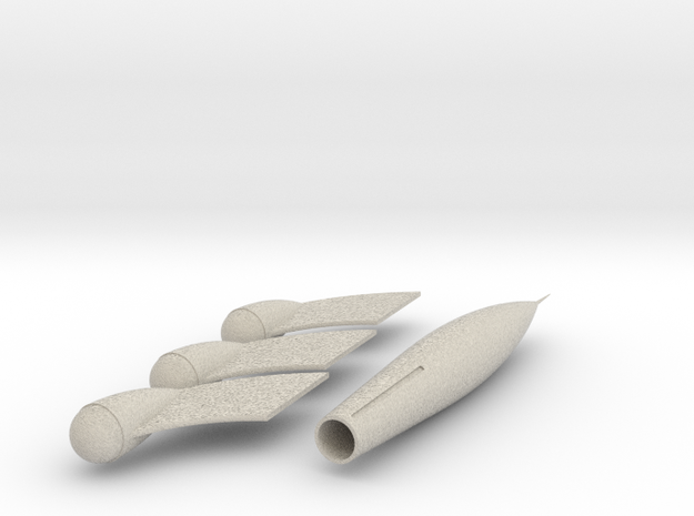 TinTin Rocket simple 3d printed