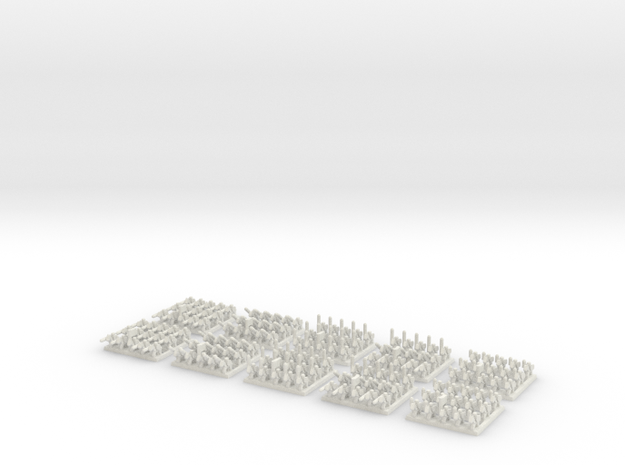2mm Cavalry (x150) WSF in White Natural Versatile Plastic