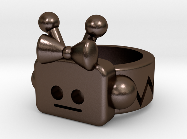 Girl Robot Ring 3d printed