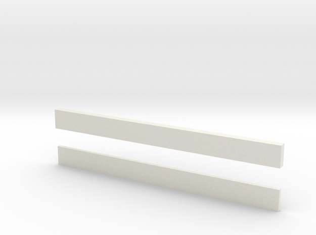 thin bars 5mm width in White Natural Versatile Plastic