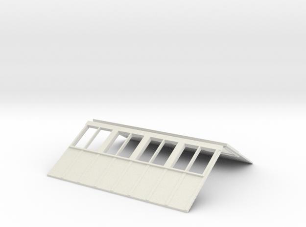 R1 81 Roof V2  in White Natural Versatile Plastic