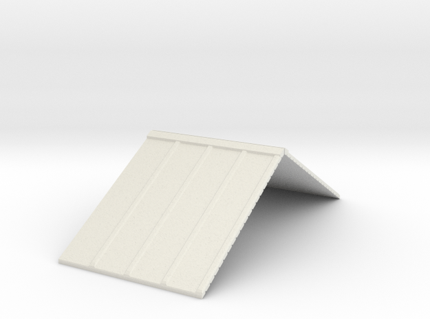 R1 34 Roof in White Natural Versatile Plastic
