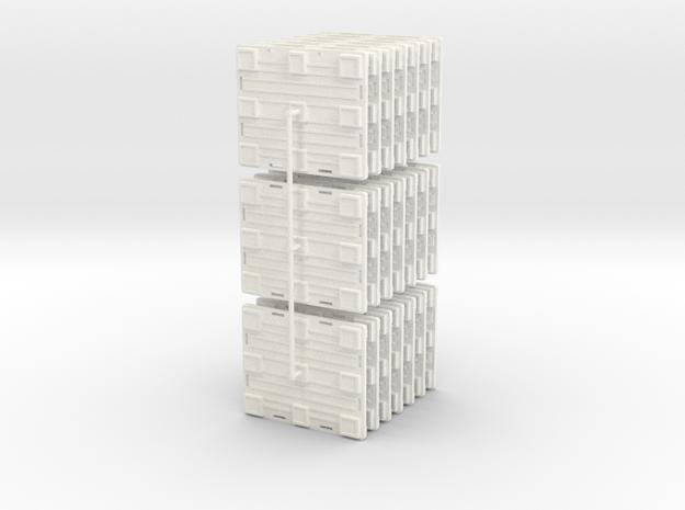 Plastic Pallet in White Processed Versatile Plastic
