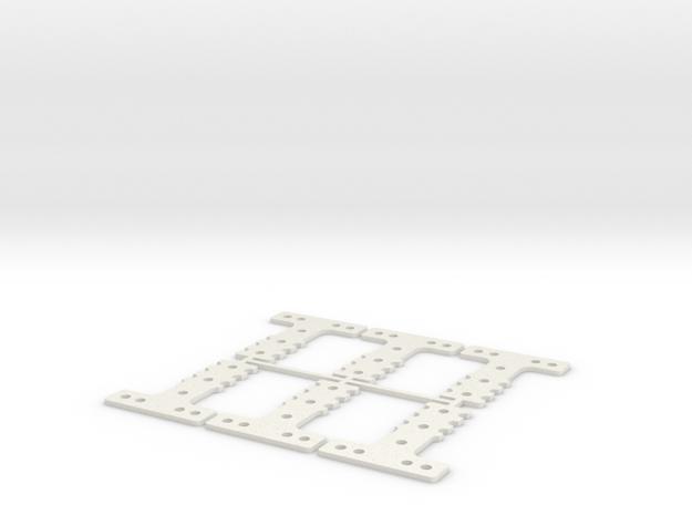 LM-MM 40 THK #4 SET in White Natural Versatile Plastic