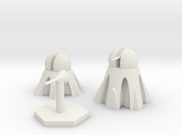 Light, Roof Top, and Stand Alone Heat Ray Turrets in White Natural Versatile Plastic