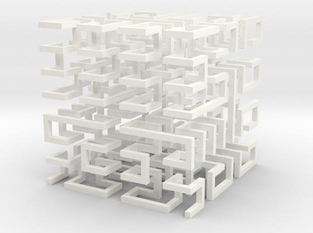 Hilbert Cube 3d printed