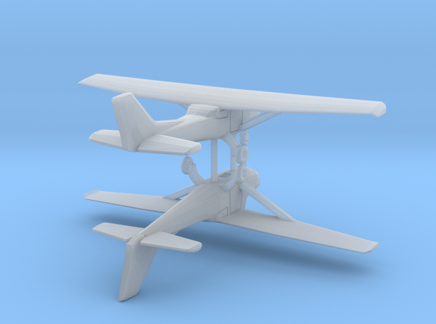 Cessna 172 - Hollow - Set of 2 - Nscale in Smooth Fine Detail Plastic